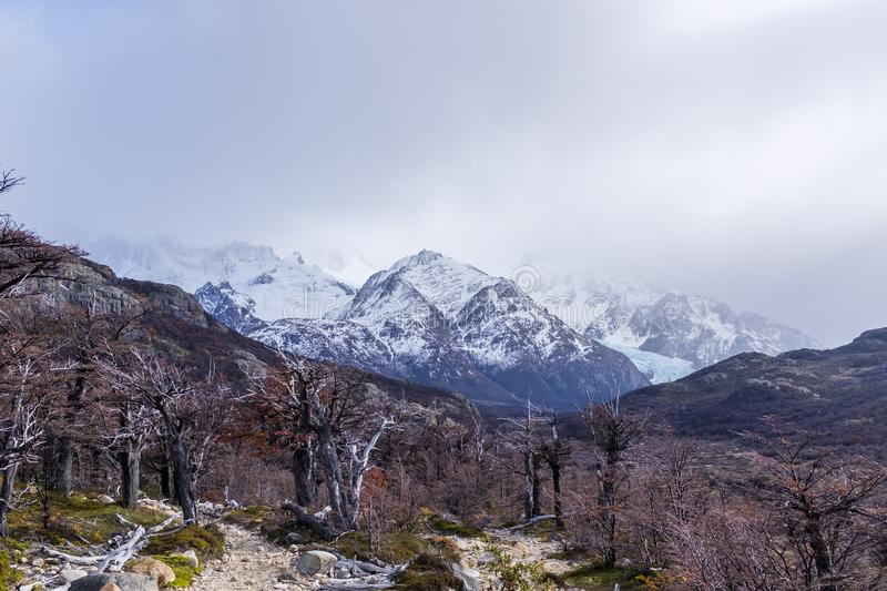 Autumn mountain landscape in Patagonia royalty free stock photography