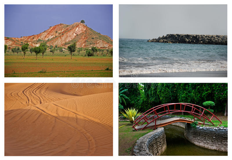 Download Nature collage stock image. Image of travel, beach, waves - 16313339