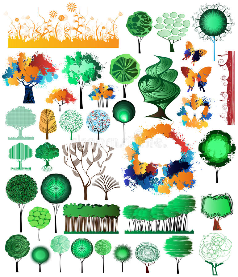 Download Nature collection stock vector. Image of deco, grunge - 16648008