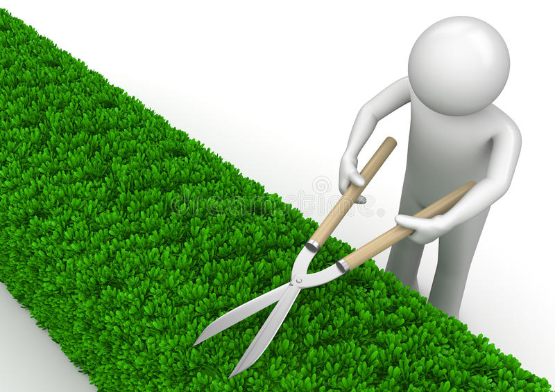 Download Nature Collection - Gardener With Garden Shears Stock Illustration - Illustration of shears, green: 14203893