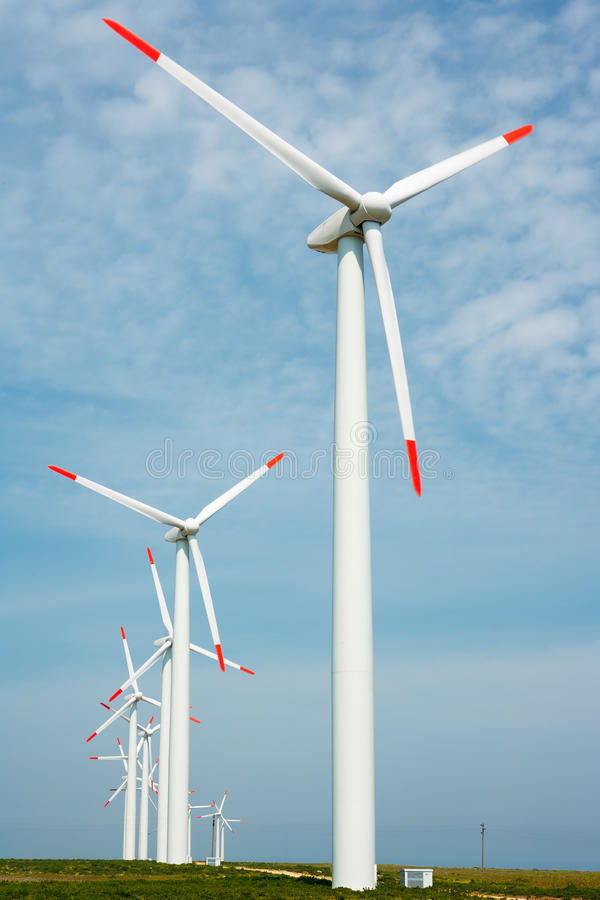 Nature conservation wind power generation royalty free stock photos