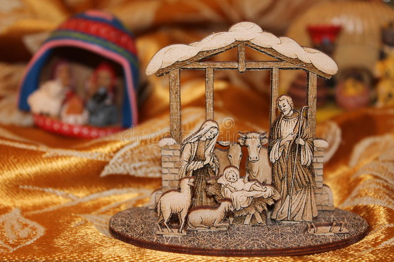 Nature creates the Nativity - Christmas - Small Nativities from all over the World stock images