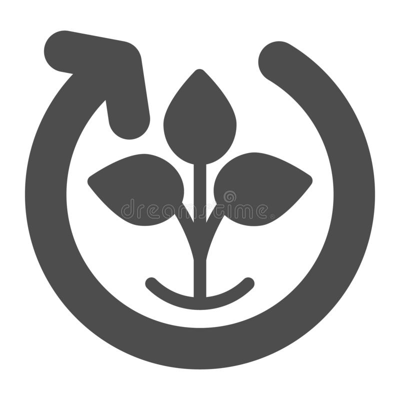 Nature cycle solid icon. Natural process vector illustration isolated on white. Plant cycling glyph style design. Designed for web and app. Eps 10 vector illustration