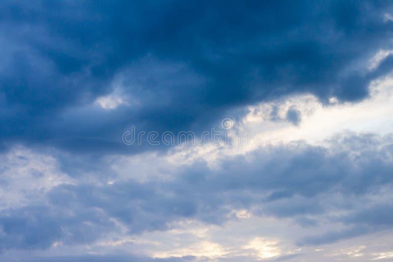 Dark cloud on sky. Nature of dark cloud on the sky before rain royalty free stock photo