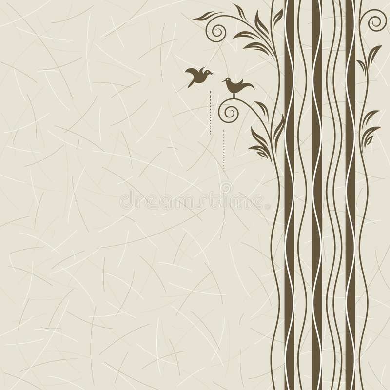 Nature and Dating. Abstract tree with birds dating, vector layered vector illustration