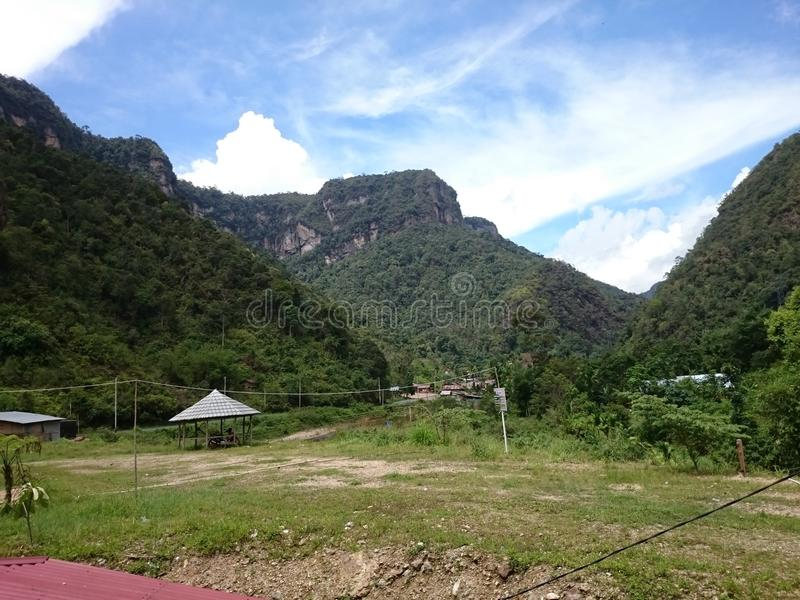 Nature de collines de Payakumbuh photo stock