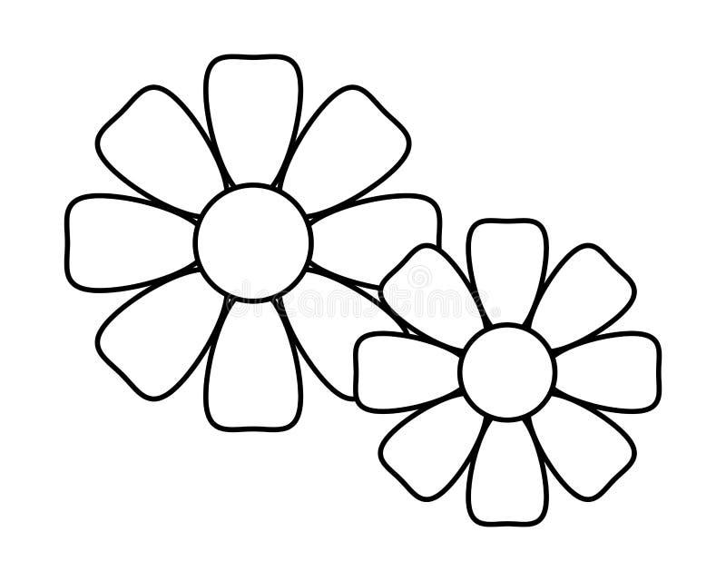 Nature de décoration de fleurs illustration de vecteur