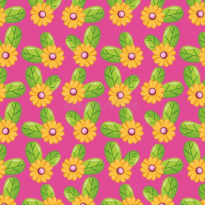 Nature de feuilles de fleurs illustration libre de droits