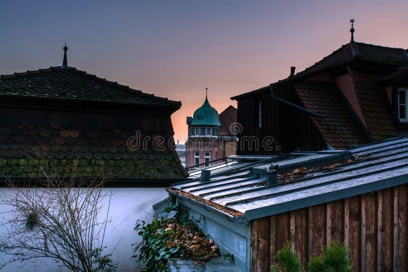 Nature de l'hiver Ville photo libre de droits