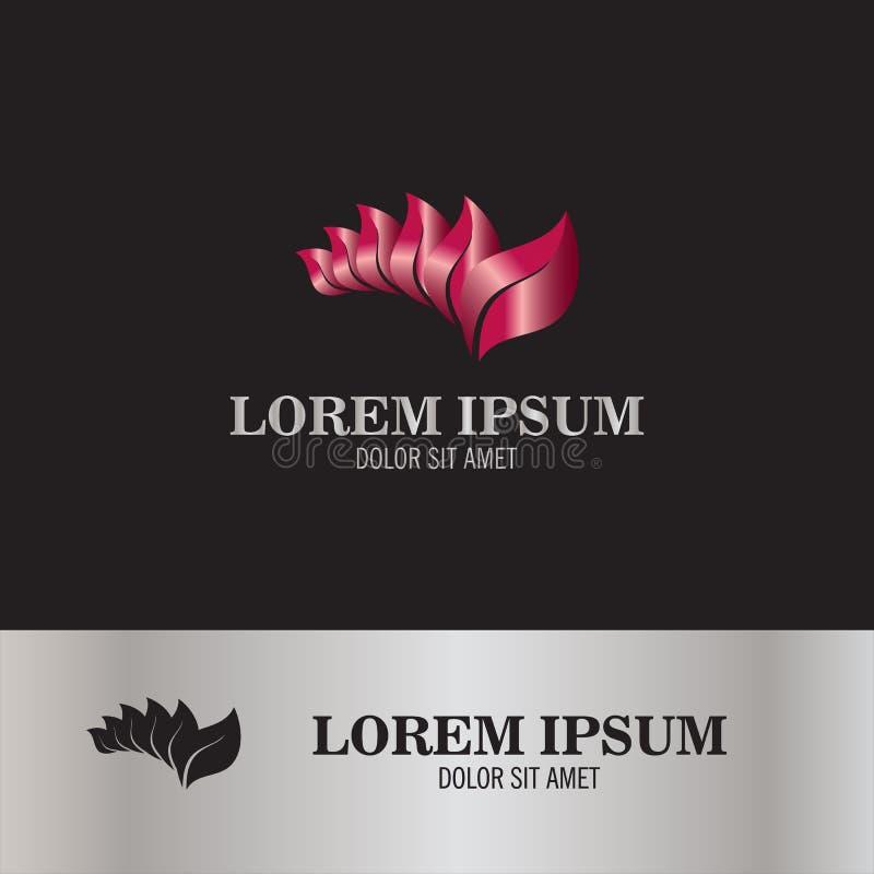 Nature de logo de feuille illustration de vecteur