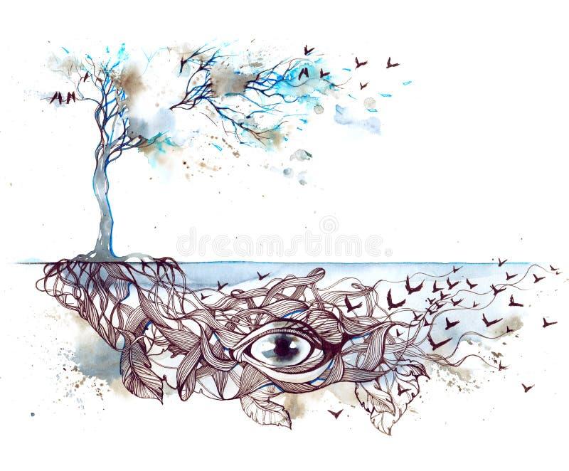 Nature de mémoire illustration libre de droits