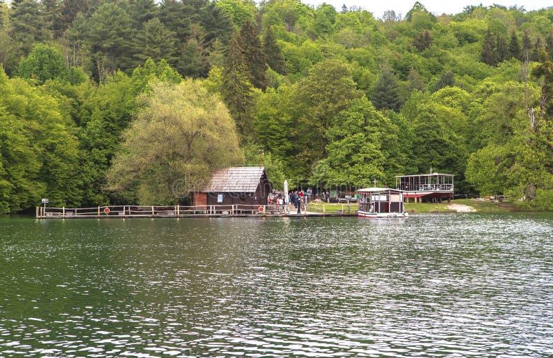 Nature de parc national de lacs Plitvice en été photos libres de droits