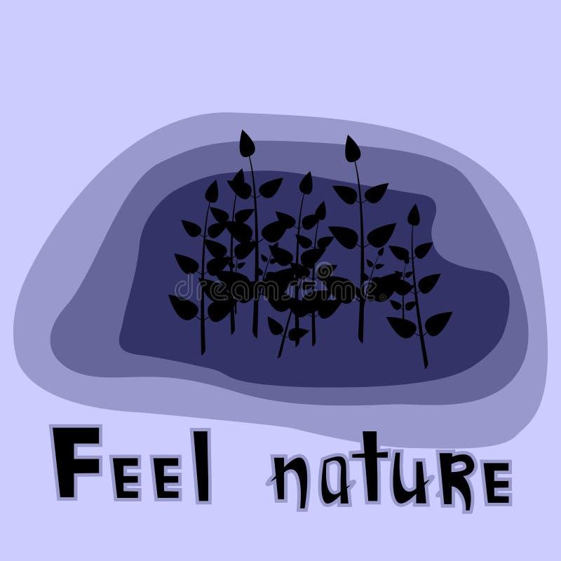 Nature de sensation illustration stock
