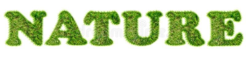 Download Nature De Word écrite Avec L'herbe Verte Image stock - Image du descripteur, emblème: 76076321