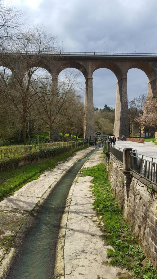 Nature du luxembourgeois de pont image libre de droits