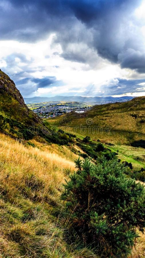 Arthur`s Seat stock photography