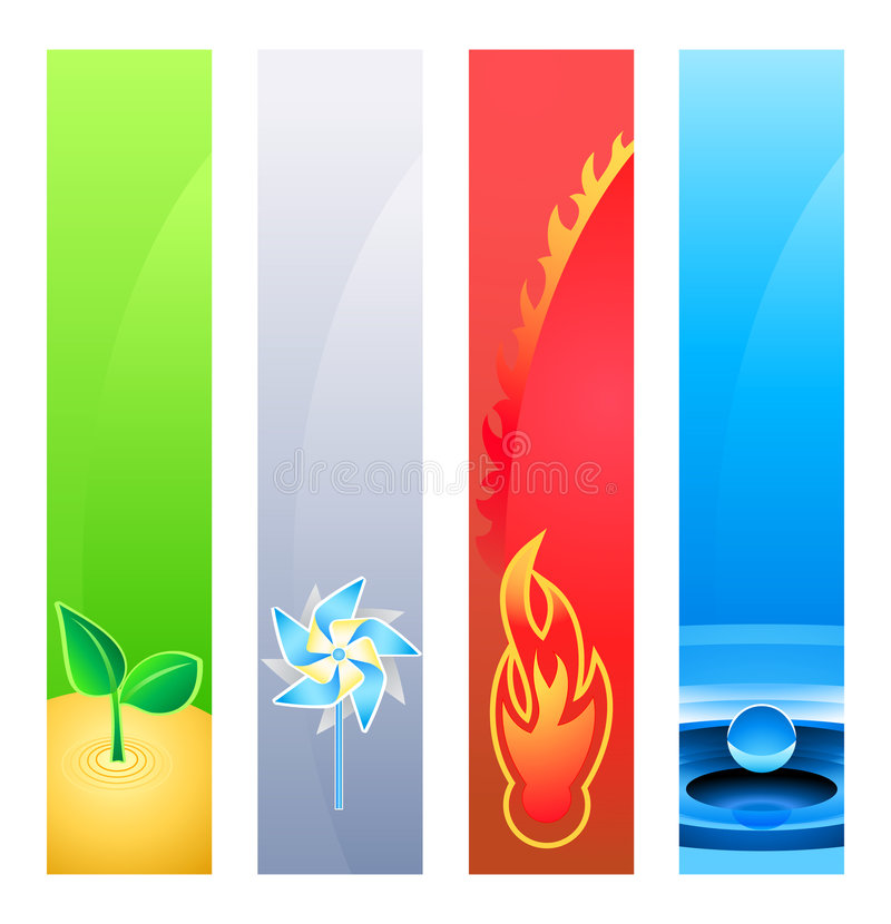 Nature element banners stock illustration