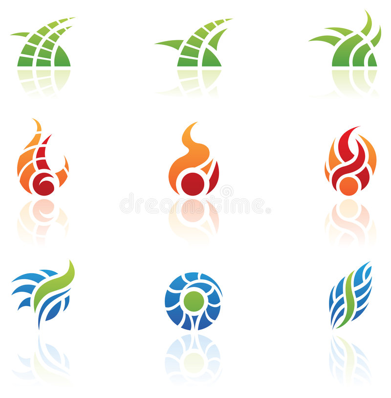 Nature Elements Logos Royalty Free Stock Photos