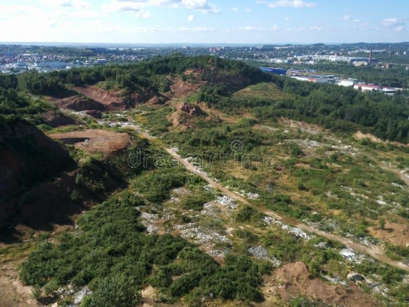 Nature et la ville images libres de droits