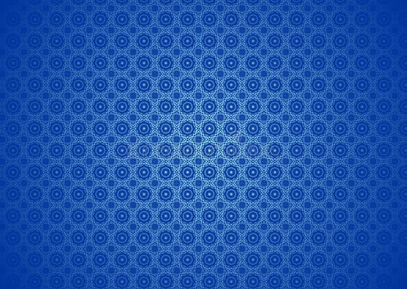 Nature florale orientale, ornemental, chinois, arabe, islamique, Imlek, Ramadan, papier peint bleu de fond de texture de modèle d illustration stock