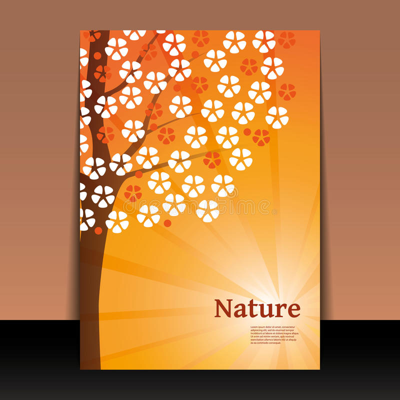 book cover template illustrator - nature flyer or cover design stock images image 32210804