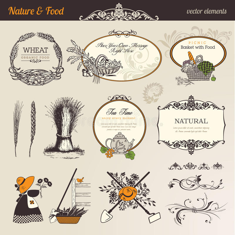 Free Nature & Food Vector Elements Royalty Free Stock Image - 22078956