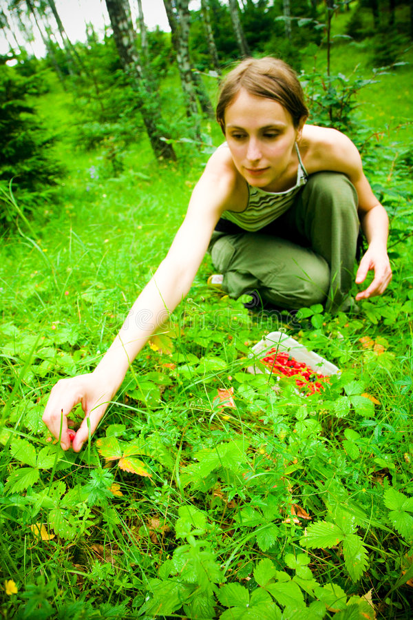 Nature girl stock images