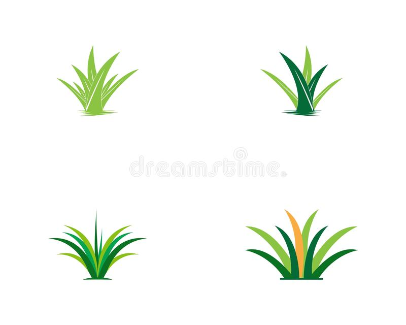 Nature grass icon logo template royalty free illustration