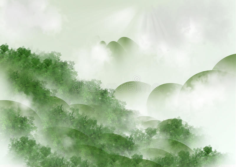 Download Nature green background stock illustration. Illustration of clouds - 43260915