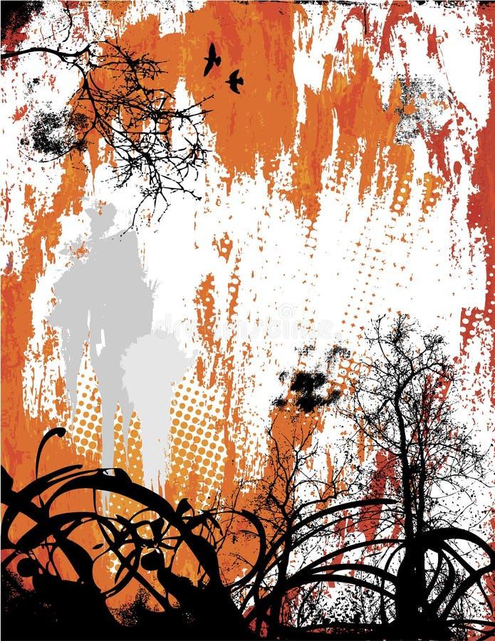 Nature Grunge royalty free illustration