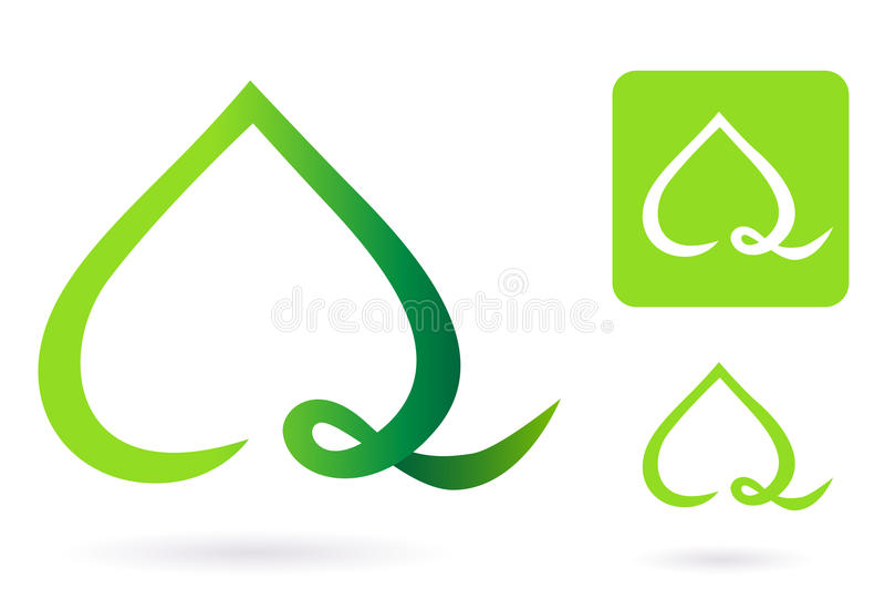 Nature heart leaf icon vector illustration