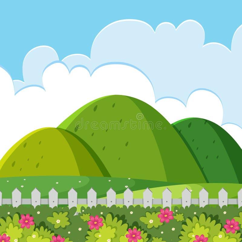A nature hill landscape. Illustration stock illustration