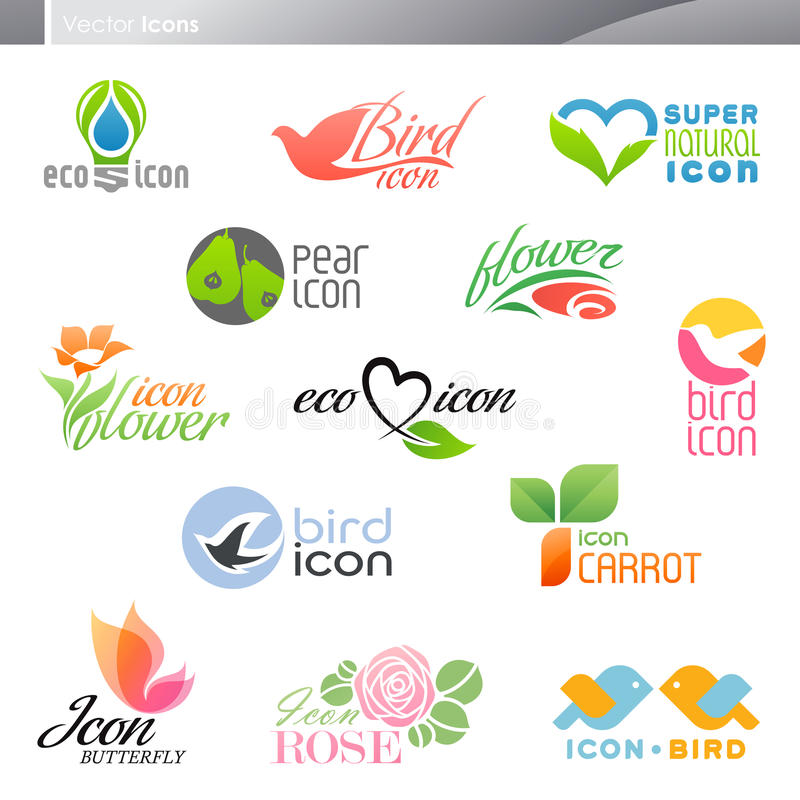 Download Nature. Icon set. stock vector. Image of element, concept - 21307847