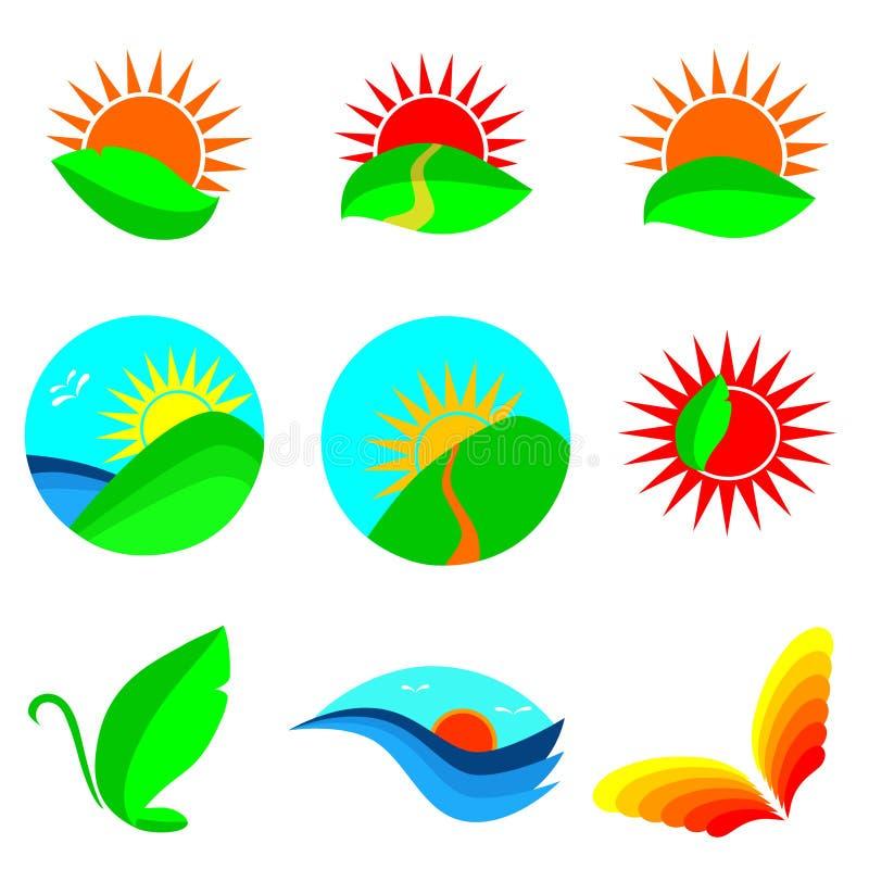 Nature Icon Set Royalty Free Stock Image