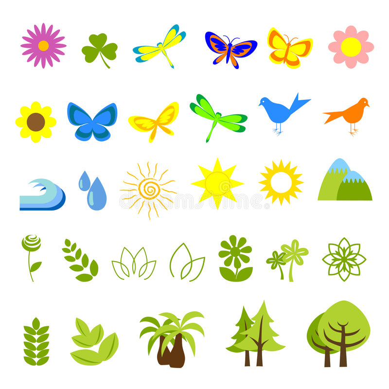 Download Nature icons 05 stock vector. Image of ecology, environment - 8379119