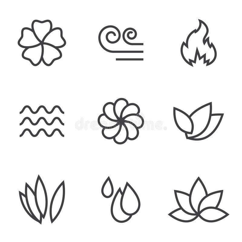 Nature icons royalty free illustration