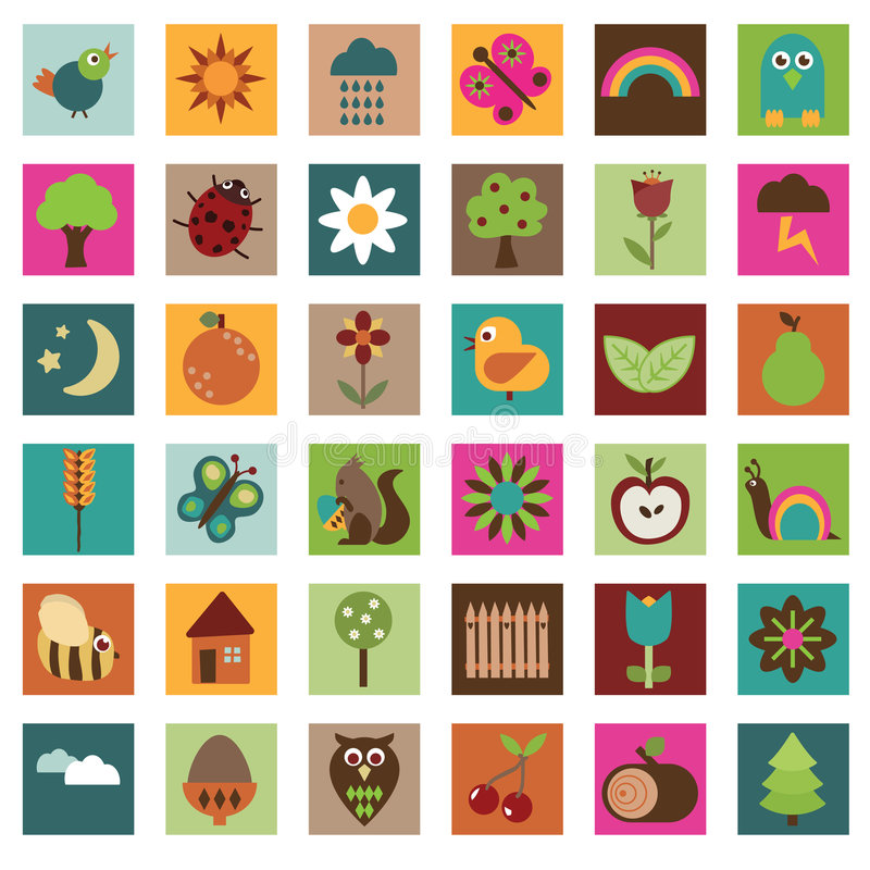 Free Nature Icons Royalty Free Stock Photography - 7807297