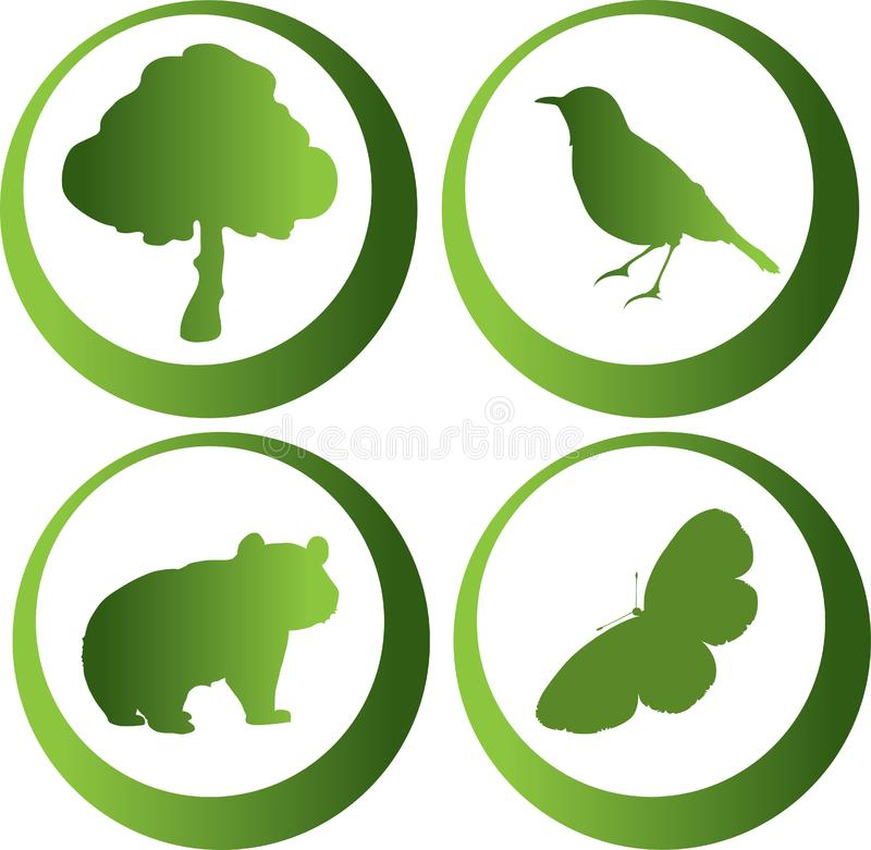 Nature icons stock photo