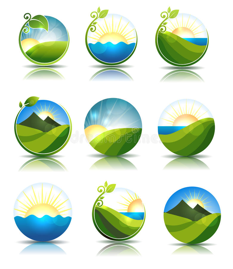 Nature icons royalty free illustration