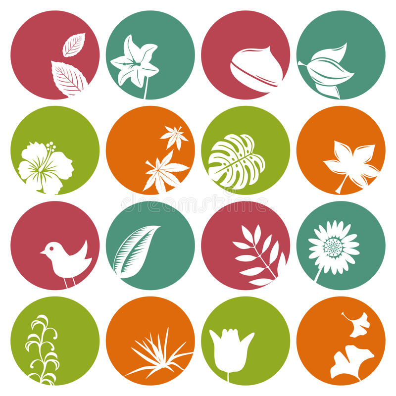 Download Nature icons set stock vector. Image of ecology, beautiful - 17548290