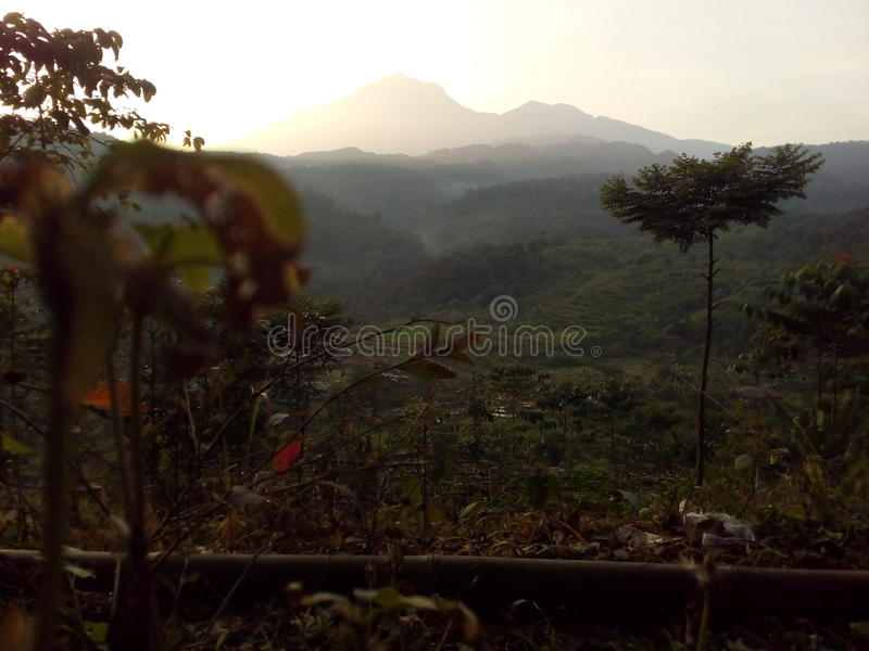Sunrise in West Java Bogor, Gunung Picung royalty free stock photo