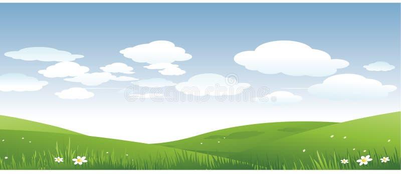 Nature landscape background vector illustration