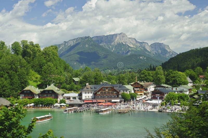 Nature landscape of beautiful lake scene