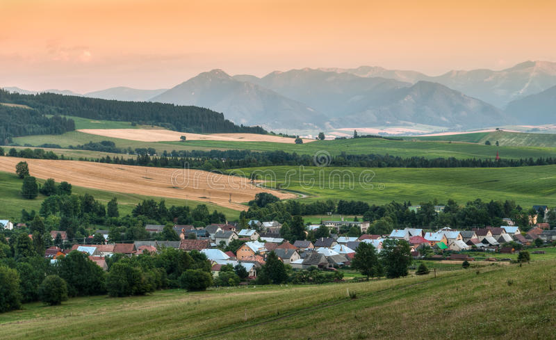 Nature landscape with mountains royalty free stock photo