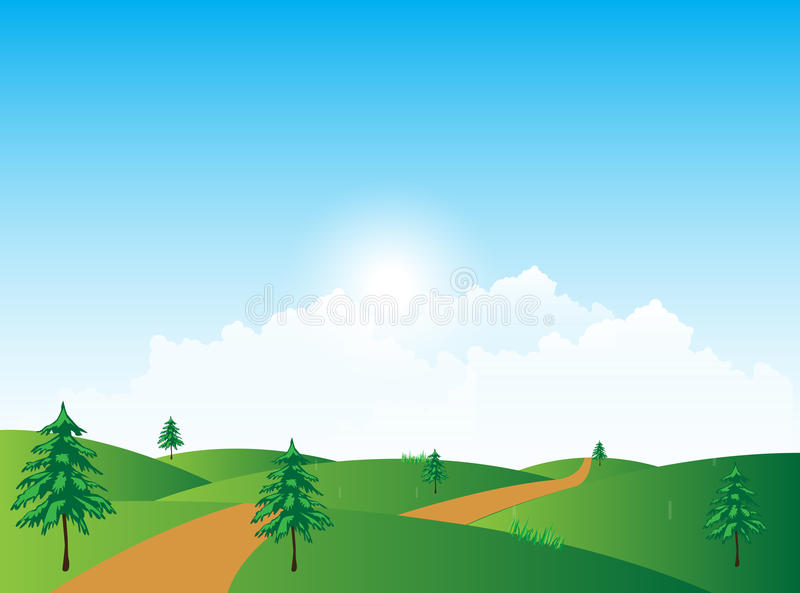 Nature Landscape royalty free stock photos