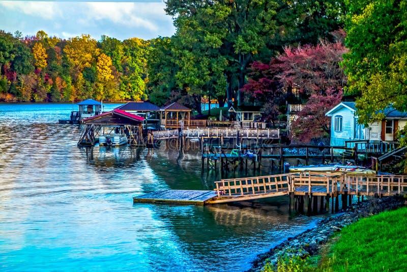 Nature landscapes around lake wylie south carolina royalty free stock images