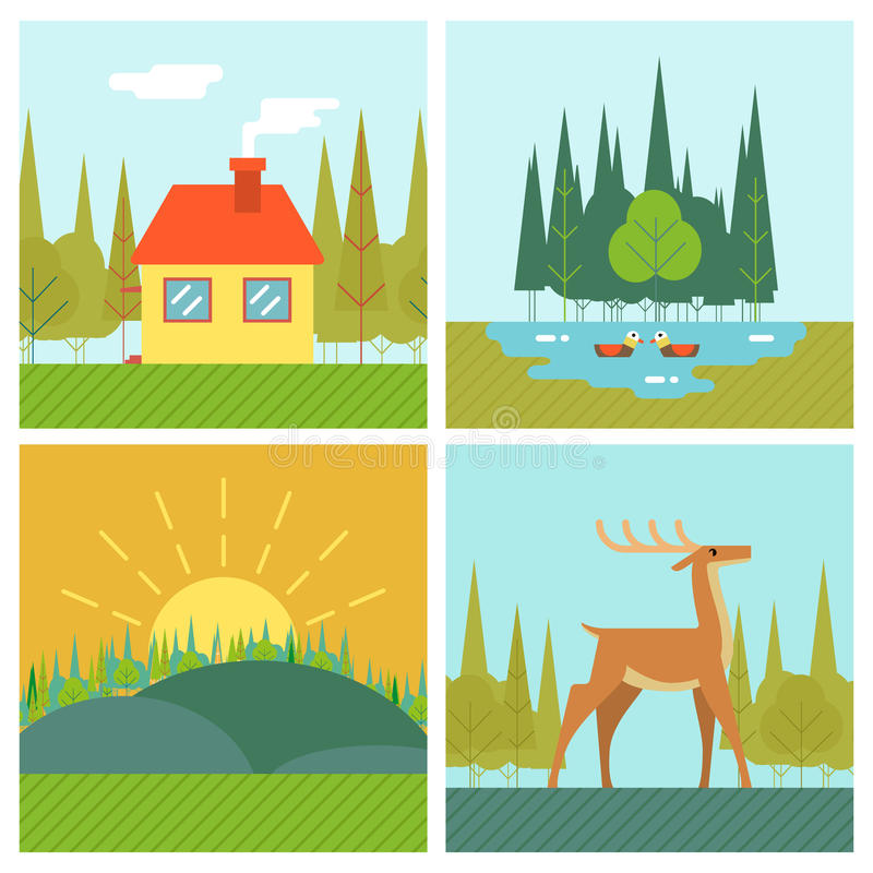Free Nature Landscapes Outdoor Life Symbol Lake Forest Royalty Free Stock Image - 51158926