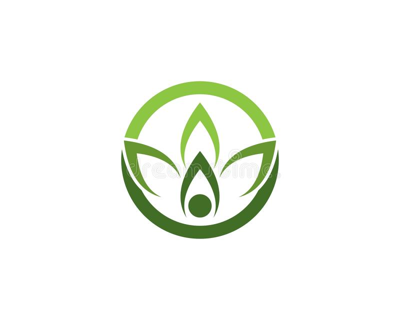 Nature leaf icon logo vector template vector illustration
