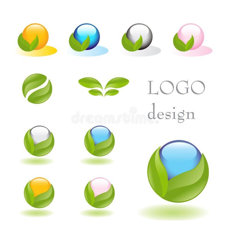 Nature logo. Nature- vector logo design set isolated on white. Alternative medicine and ecology targeted