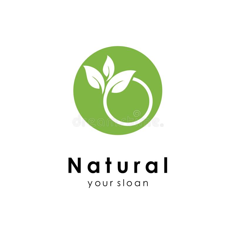 Nature logo template, green design vector icon illustration. Abstract, agriculture, art, bio, botanical, botany, branch, business, creative, eco, ecology vector illustration